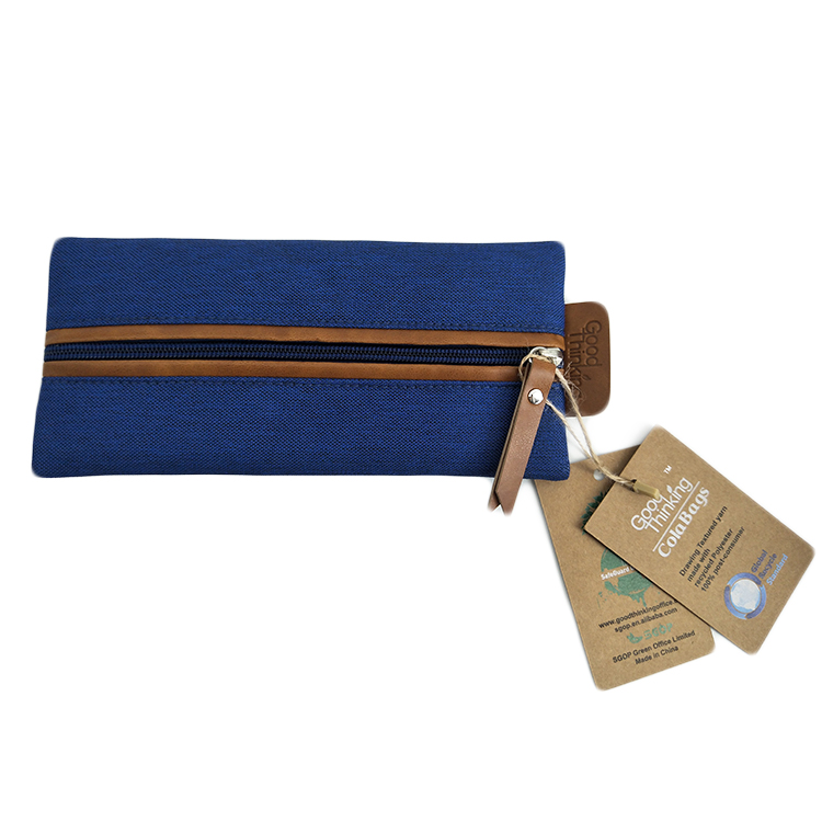 85034 100% Recycled PET Fabric Flat Pencil Case